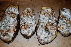 Ricotta and Artichoke Stuffed Eggplant
