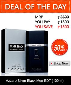 8bc69458f7 Order Azzaro Silver Black Men EDT (100ml)   Browsecart Buy Perfume Online