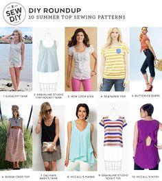 10 Summer Top Sewing Patterns – DIY Roundup | Sew DIY
