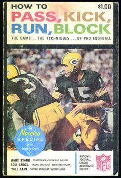 Green Bay Packers 1965 Pass Kick Run Block Paperback Bart Starr Lou Groza | eBay