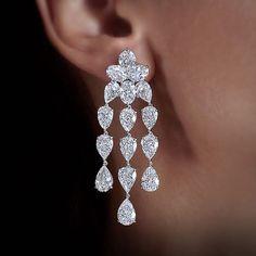 William Goldberg. The Fancy Shape Diamond Trina Earrings.