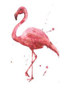 Flamingo, flamingo painting, tropical bird, pink ladies, pink flamingo Stretched Canvas