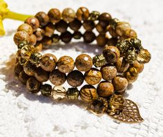 Jasper Bracelet Gemstone Bracelet Boho by MoonlightLoveAffair