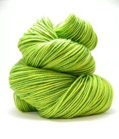 Hand dyed yarn Green Sock Yarn SW Merino by SunriseFiberCo on Etsy, $20.00