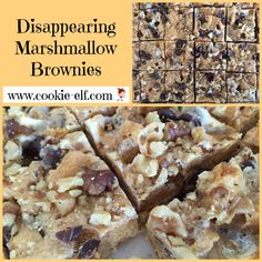 Disappearing Marshmallow Brownies: ingredients, directions, and special baking tips from The Elf to make this blonde brownies recipe variation. Cake Mix Cookie Recipes, Cake Mix Cookies, Brownie Recipes, Dessert Recipes, Desserts, Marshmallow Brownies, Blonde Brownies, Christmas Brownies, Best Appetizers