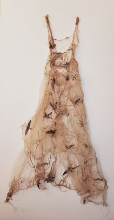 Louise Richardson Art my wings are clipped textile art Textiles, Fashion Art, Fashion Design, Mode Style, Fabric Art, Costume Design, Lanvin, Textile Art, Wearable Art