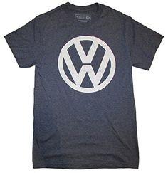 VW Volkswagen Logo Licensed Graphic T-Shirt, Heather Blue...