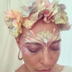Festival face paint and flower crown