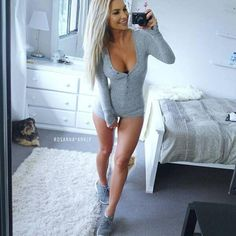 7 Color Rompers Womens Jumpsuit 2015 Sexy Lady V Neck Long Sleeve Bodycon Jumpsuit Bodysuit Slim Short Cotton Romper - TakoFashion - Women's Clothing & Fashion online shop Bodycon Jumpsuit, Halter Jumpsuit, Short Playsuit, Short Jumpsuit, Rompers Women, Jumpsuits For Women, Chemises Sexy, Catsuit, Clothes