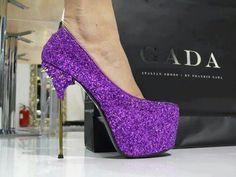 Purple Stilettos. BOO YEAH!!!!!