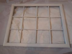 Window picture frame - diy