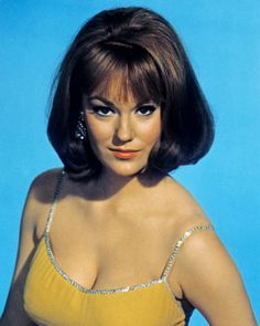 A very 60s hairstyle on Claudia Cardinale I wore this style in college. I'd flip it up too.