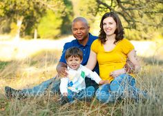 Bright solid colors pulled from the patterned shirt of the little boy.