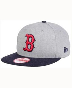 New Era Boston Red Sox Heather 2Tone Snapback Cap - Gray Adjustable
