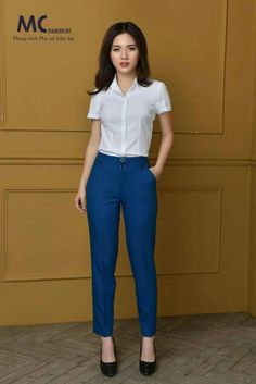 Classy Business Outfits, Casual Work Outfits, Professional Outfits, Work Attire, Workwear Fashion, Office Fashion Women, Work Fashion, Fashion Outfits, Slacks For Women
