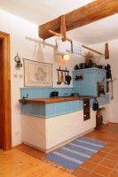 Statek - interiéry :: NOVÁKŮV STATEK 1788 Build Your House, Building A House, Wood Stove Cooking, Vintage Stoves, Outdoor Oven, Scandinavian Kitchen, Home Comforts, Home Kitchens, Kitchen Design
