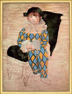 "Pablo Picasso: Bild ""Paul als Harlekin"" (1924)"