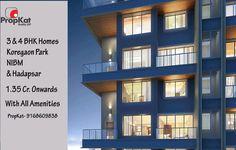 3 & 4 BHK homes @ Koregaon Park , NIBM & Hadapsar   1.35 Cr. Orwards   With all amenities   PropKat-9168609838   #3BHK #4BHK #Pune #LuxuryFlats