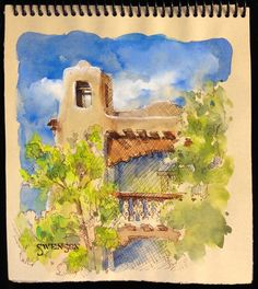 Brenda Swenson: Watercolor on Tinted Paper