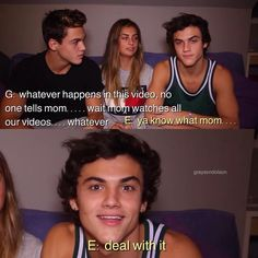 "I seriously Dolan this part and the part when Eth says "" that's DISGUSTING!"" Bc of the way he says it"