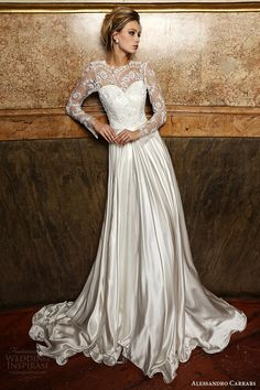 ALESSANDRO CARRABS couture bridal 2016 long sleeves sweetheart illusion jewel neck a line wedding dress (019) mv #bridal #wedding #weddingdress #weddinggown #bridalgown #dreamgown #dreamdress #engaged #inspiration #bridalinspiration #weddinginspiration