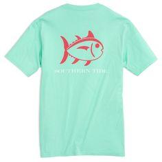 Southern Tide Beachside Outline Skipjack T-Shirt - Offshore Green