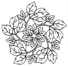 cut paper design Poison Ivy
