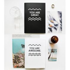 Double Sided B&W Notebooks