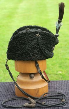 Victorian Rifle Regt. Astrakhan Busby Cap / Hat worn by the Earl of Balcarres