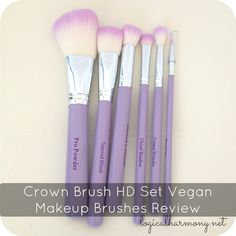 Crown Brush HD Set Vegan Makeup Brushes Review #crueltyfree #vegan via @Tashina Combs