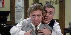 The Producers, 1968, directed by Mel Brooks.  Starring Zero Mostel, Gene Wilder, Dick Shawn, Kenneth Mars, Lee Meredith, Christopher Hewett, Andreas Voutsinas, Estelle Winwood, Renee Taylor, David Patch and William Hickey.  Pathe Color, 88 min., MGM/Embassy.
