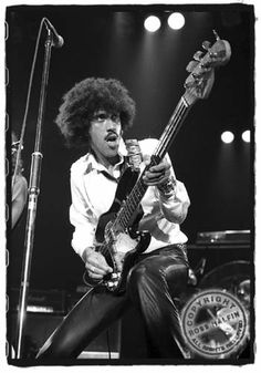 Thin Lizzy, this is bassist/vocalist/songwriter Phil Lynott, 50% Irish, 50% African, 110% rock and roll!  Huge influence on our band.
