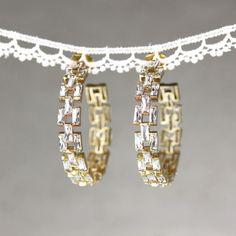 Momo's March hoop earring #vintage#deco