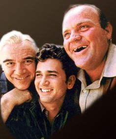 Lorne Greene, Michael Landon and Dan Blacker