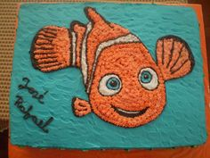 I like this design of Nemo. Possibly just cut the cake around the fish, just fish as cake.