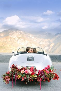 Photography: Mary Costa | Concept: 100 Layer Cake | Flowers: Of The Flowers | Hair & Makeup: Fiore Beauty | Car Rental: Vinty Inc. | Menswear: The Black Tux | Dress: Rent the Runway