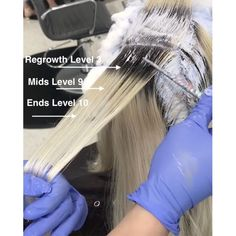 We are the largest community in the world for salon professionals with over 600,000 members worldwide!! Check out our website with 25,000 pages of salon related articles, collections, step-by-steps, business support! Blonde Hair With Roots, Bleach Blonde Hair, Hair Color Purple, Hair Color And Cut, Hair Levels, Bleach And Tone, Hair Color Formulas, Color Rubio, Hair Color Techniques