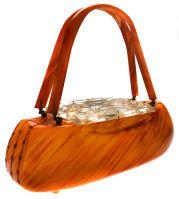 1940's carved Bakelite purse