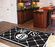 Brooklyn Nets 5x8 Rug
