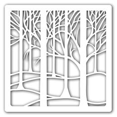 """Clarity Stamps 7"""" X 7"""" Stencil Treescape Ste-Tr-00017-77 350 Microns"""