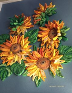 sunflowers, quilling