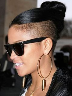 Cassie Long Hair Bun Mohawk