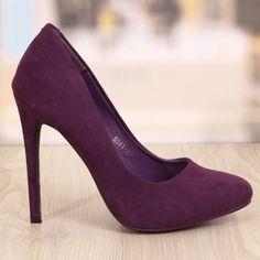 Poze Pantofi Stiletto Nicoll Mov Cod: 752