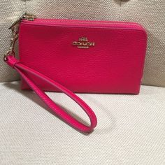Coach double wristlet brand new no tag Brand new never used- upgraded to larger cell phone 6plus and doesn't fit! Grrr :( had already cut tag and could return to Dillard's. Coach Bags Clutches & Wristlets