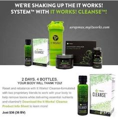 Call/Txt (646) 421-8716 www.classygurllifestyle.com It Works Products, Cleanse