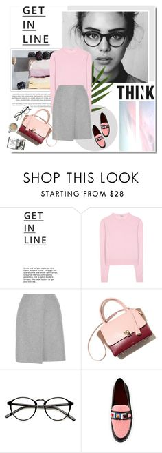 """""""Think"""" by aane1aa ❤ liked on Polyvore featuring Lipsy, Miu Miu, Acne Studios and Fendi"""