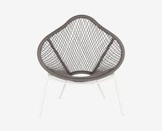 Scandinavian Designs - The Inula lounge chair is beautiful and sculptural. The seat is woven with grey fiber-rope on a white finished aluminum frame. Please check store for availability. Contemporary Outdoor Furniture, Modern Contemporary Homes, Outdoor Garden Furniture, Outdoor Sofa, Outdoor Living, Danish Furniture, French Furniture, Rustic Furniture, Affordable Furniture