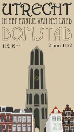 Poster - Utrecht - The Netherlands. Utrecht, Rotterdam, Party Vintage, High Middle Ages, Yuri, Visit Amsterdam, Dutch Golden Age, Voyage Europe, Up Book