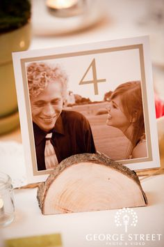 Love table numbers with our pictures.  Especially since we're not doing each table as a theme...we can kinda do that with pictures! :-)
