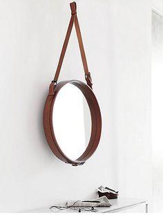 Gubi // Adnet Mirror by Jacques Adnet http://decdesignecasa.blogspot.it